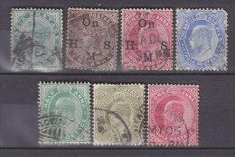 INDIEN, 7 Alte Marken, Old Stamps, Gestempelt - Inde (...-1947)