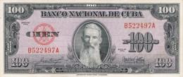 1954 SCARCE. 100 PESOS BANCO NACIONAL UNCIRCULATED - Cuba