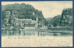 Gruß Aus Herrnskretschen Elbe, Gelaufen 1899 (AK101) - Sudeten