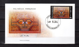 """(Faciale = 1.59 €) Enveloppe 1er Jour De 2003 """" LE TIKI De H. FAY """". N° YT 703. Parfait état. FDC"""