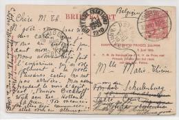 NEDERLAND - 1910 POSTCARD - DOOPPLECHTIGHEID PRINSES JULIANA-from 's-Hertogenbosch To Bruges -fwd To Ostende & Allemagne - Brieven En Documenten