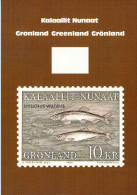 Greenland Mallotus Villosus Capelin Fish Stamp Postcard 1986 Mint - Francobolli (rappresentazioni)