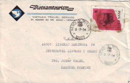 MCOVERS-7-35 LETTER FROM VIETNAM TO LIBEREC,CZECH REP.