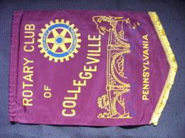 Banner:    COLLEGEVILLE.   PENNSYLVANIA..    (U.S.A).  -   ROTARY  CLUB  INTERNATIONAL. - Organizations