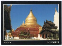 MYANMAR (BURMA) - SHWEZIGON PAGODA BAGAN / THEMATIC STAMP-MUSIC INSTRUMENTS - Myanmar (Burma)