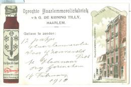 1910 Netherlands Haarlem Oil Advertising Pc Printed Address, Used Hoornaar To Haarlem - Haarlem