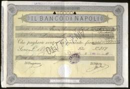 2  FEDI DI CREDITO  DEL 1937 - BANCO DI NAPOLI - FILIALE DI MATERA - Azioni & Titoli