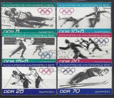 Germany  (DDR) 1971  Olympische Winterspiele 1972 Sapporo  (o) Mi.1725-1730 - [6] République Démocratique