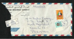 United Arab Emirates UAE 1988 Registered Air Mail Postal Used Cover Abu Dhabi To Pakistan AS Per Scan - Abu Dhabi
