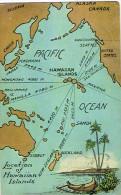 Hawai Hawaii Etats Unis Usa Carte Postale Postcard Carte Map Location Coconut Pirogue Ed South Sea Curio Honolulu Neuve - Cartoline
