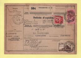 Bulletin D Expedition Colis - Alsace Lorraine - Strasbourg Principal - Bas Rhin - 21-6-1937 - Marcophilie (Lettres)