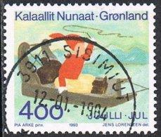 Greenland SG265 1993 Christmas 4k Good/fine Used - Oblitérés