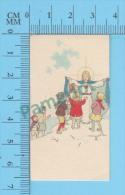 Petites Image Pieuse ( KGO Serie 12/5  Pour Enfants, à Moi Les Petit Enfants) Holy Cards Santini 2 Scans - Devotion Images