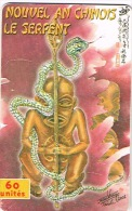 Polynesie Francaise Tahiti Telecarte Phonecard PF110 Serpent D'or Nouveal An Chinois Tiki  Us Courant - Polinesia Francesa