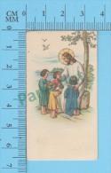 Petites Image Pieuse ( KGO-19108 Serie Pour Enfants, Jesus Entouré D' Enfants)  Holy Cards Santini 2 Scans - Devotion Images