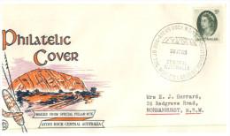(110) Australian FDC Cover - Ayers Rock - 1965 - Special Commemorative Postmark - Sobre Primer Día (FDC)