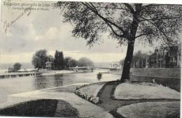 Exposition Universelle De Liege 1905 Confluent D'Ourthe Et Meuse Recto Verso Beau Timbre  Carte Officielle - Luik
