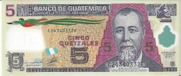 GUATEMALA - 5 Quetzales 2014 Polymer - UNC - Guatemala
