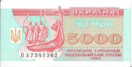 UKRAINE - 5 000 Karbovanetsiv 1995 - UNC Pick 93 - Oekraïne