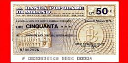 MINIASSEGNI - BANCA POPOLARE DI MILANO - L. 50 - Nuovo - FdS - [10] Assegni E Miniassegni