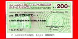 MINIASSEGNI - BANCA POPOLARE DI MILANO - L. 200 - Nuovo - FdS - [10] Assegni E Miniassegni
