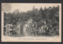 DF / 75 PARIS / BOIS DE BOULOGNE / CASCADE ET GROTTE / CIRCULÉE EN 1903 - Parks, Gardens