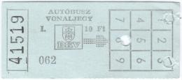 Ticket m�tro - bus - Autobusz vonalliegy BKV [Budapest] - 08- 1990 (I)