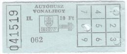 Ticket m�tro - bus - Autobusz vonalliegy BKV [Budapest] - 08- 1990 (II)