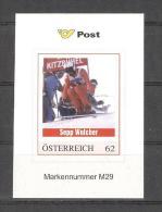 Österreich M29 Postfr. Sepp Walcher Weltmeister Abfahrtslauf 1978 Garmisch-Partenkirchen - Personalisierte Briefmarken
