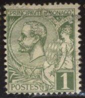 Monaco - Oblitéré - Charnière YT N° 11 Prince Albert 1er 1c Olive - Monaco
