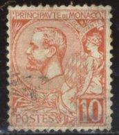 Monaco - Oblitéré - Charnière YT N° 23 Prince Albert 1er 10c Rouge - Monaco