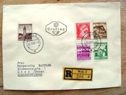 Cover Sent In Austria Osterreich Registered Wels Ersttag - 1945-.... 2. Republik