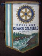 FANION/PENNON:   ROSARIO  SALADILLO.  District 488.   ARGENTINA.  -   ROTARY   CLUB INTERNATIONAL. - Organisations