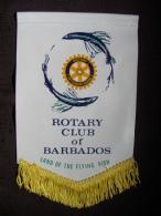 FANION/PENNON:   BARBADOS.  Land Of The Flying Fish.  BARBADE.  -   ROTARY  CLUB  INTERNATIONAL. - Organisations