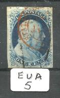 EUA Scott   7 Type II Black And Red Cancel (ETATS-UNIS) Fine To Very Fine YT 3 # - Used Stamps