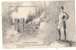 Carte Humoristique De La Guerre De 1914 Cathédrale De REIMS - Reims