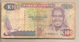 Zambia - Banconota Circolata Da 100 Kwacha - Zambia