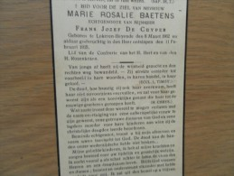 D.P.-MARIE-R.BAETENS°LOKEREN-HEYENDE8-3-1862+ALDAAR 11-2-1935 - Religion & Esotérisme