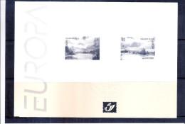 Feuillet N/B - Europa 1999  - Avec Cachet à Sec De La Poste - Feuillets Noir & Blanc