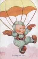 Belle CPA  Illustrée Signée Beatrice Mallet   SPORT PARACHUTISTE PARACHUTE  Falling For You  !!!  écrite 1945 - Mallet, B.