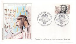 REF X5 FDC First Day Cover Premier Jour Guillaume Postel - FDC