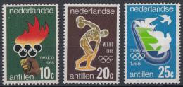 Ned. Antillen - Olympische Spelen Mexico - Postfris/MNH - NVPH 393-395 - Zomer 1968: Mexico-City