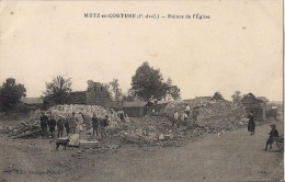 METZ EN COUTURE  RUINES DE L'EGLISE CPA ANIMEE - France