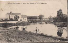 ENVIRONS DE SAUMUR LE MOULIN DE LA MOTTE LE PONT DE GASTINES CPA ANIMEE - Saumur