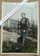 """Photo Original """"Verdun 21 Février 1916, On Ne Passe Pas, Honneur Aux Poilus"""" - 1914-18"""