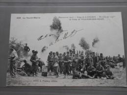 VILLIERS SUR SUIZE BIVOUAC DU 109 SIEGE DE LANGRES 1906 - Langres