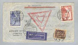 DR 1933-10-13 Zeppelin Chicagofahrt Brief Nach Brasilien - Allemagne
