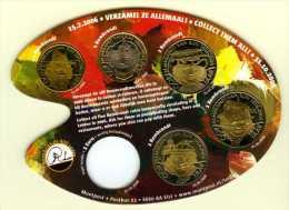 Set Van 5 REMBRANDT Munten (0,50 - 1,00 En 3 X 2,00 Euro) - Wettig Betaalmiddel In Leiden In 2006. Thema: Molen Op Verso - Nederland