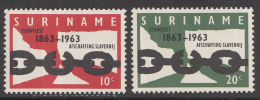 Suriname - 100 Jaar Afschaffing Slavernij - MNH - NVPH 396-397 - Suriname ... - 1975