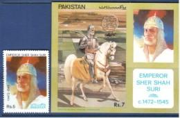 Pakistan  1991 Sher Shah Suri, Stamp &  M/Sheet  MNH - Pakistan